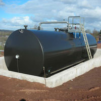 Oil storage tanks by Darke Engineering