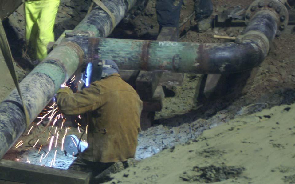 Temporary pigging facilities on 96km slurry pipeline