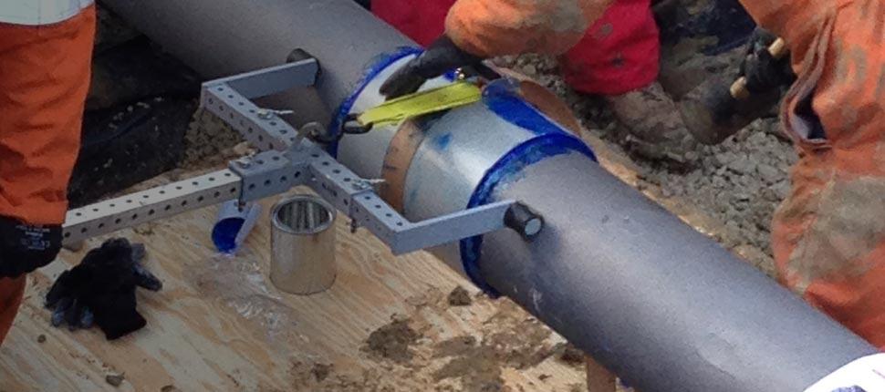 """Composite pipe repair on 8"""" fuel line"""