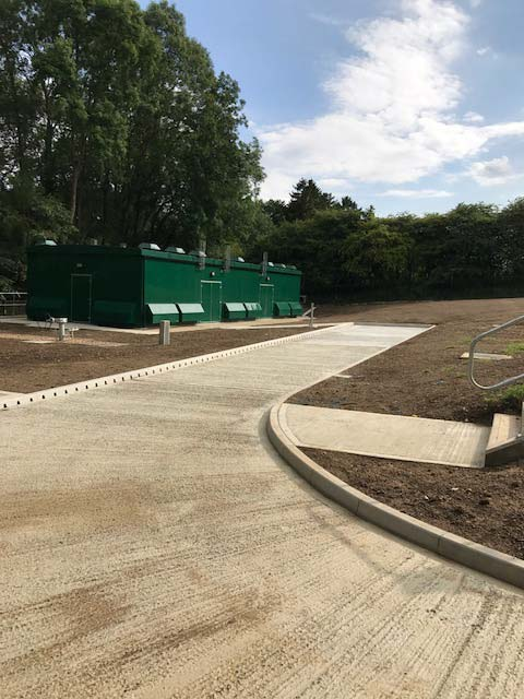 Install site wide civils: bases, road extension, ducting